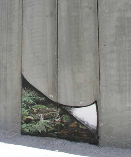 Banksy streetart - Palestijnse muur - pagina