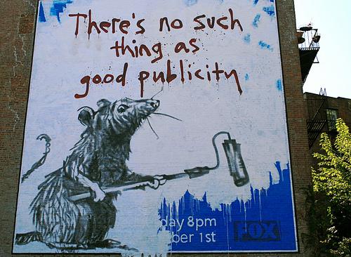 banksy - er is geen goede publiciteit