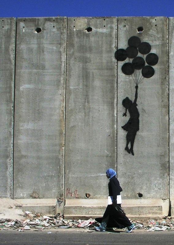 Banksy streetart - palestijnse muur westbank